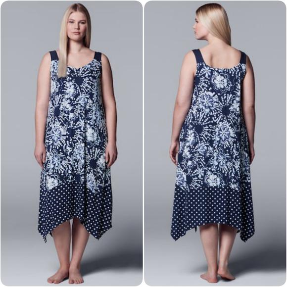 64c7391c4c1 Handkerchief Hem Long Chemise Pajamas Plus Size 3X